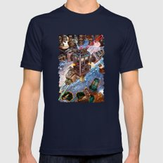 Tardis Battle Mens Fitted Tee Navy SMALL
