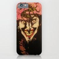 iPhone & iPod Case featuring Joker HAHAHA by DeMoose_Art