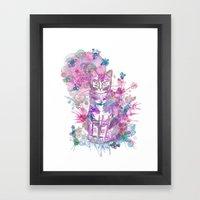 Purple kitten Framed Art Print