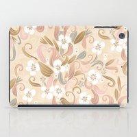 Floral curve pattern, rose gold iPad Case