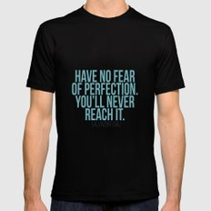 Have no fear of perfection SMALL Mens Fitted Tee Black