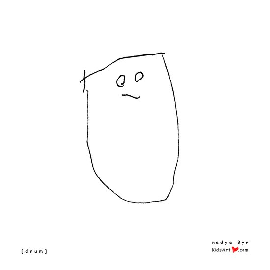 [drum] - nadya 3 yr Art Print