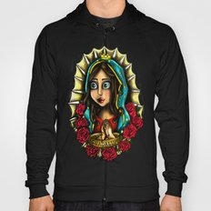 Lady Of Guadalupe (Virgen de Guadalupe) WHITE VERSION Hoody