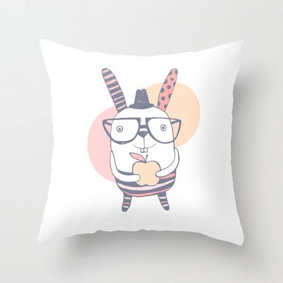 Mr.Rabbit Throw Pillow