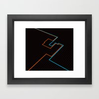 End Of Line. Framed Art Print