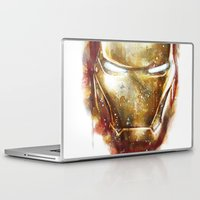 iron man Laptop & iPad Skins featuring Iron Man by beart24