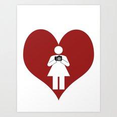 T-Shirt I Love Photography  (Girl) Art Print