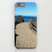 iPhone Cases featuring Footprints to the Beach by Brown Eyed Lady