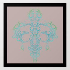 Ink Blot (Dark) Art Print
