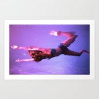 Night Swim Art Print