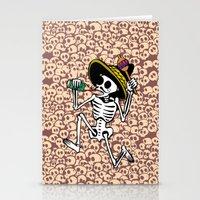 DANCING CALAVERA  Stationery Cards