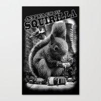 ATTACK OF SQUIRILLA Canvas Print