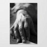 Grandma's Hands Canvas Print