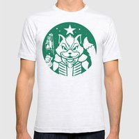 Starfox Coffee Mens Fitted Tee Ash Grey SMALL
