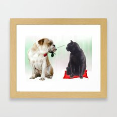 The look... Framed Art Print
