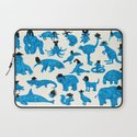 Blue Animals Black Hats Laptop Sleeve