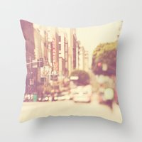 A Memory. Downtown Los A… Throw Pillow