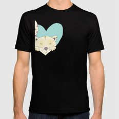 KITTY LOVE SMALL Black Mens Fitted Tee