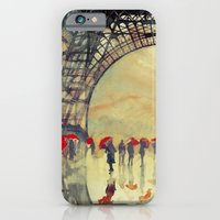 iPhone Cases featuring Winter in Paris by takmaj