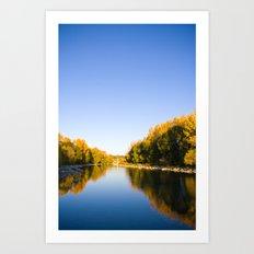 Autumn Reflections - Calgary, AB Art Print