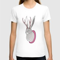 Deer Rabbit Womens Fitted Tee White SMALL