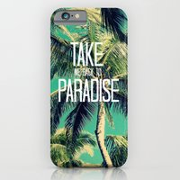 iPhone Cases featuring TAKE ME BACK TO PARADISE II  by Tara Yarte