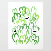 Animals in the forest Art Print