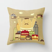 Shoplifter! Throw Pillow