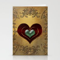 hearts Stationery Cards featuring Hearts by nicky2342