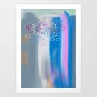Transparent Cloud Art Print