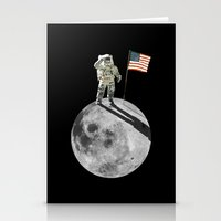 Man On Moon Stationery Cards