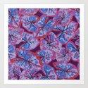 Caladium purple Art Print