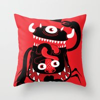 Mister Monster Throw Pillow