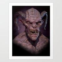 Demon II Art Print
