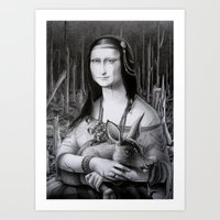 Mona Lisa in the forest Art Print