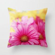 Gerbera Daisies II Throw Pillow