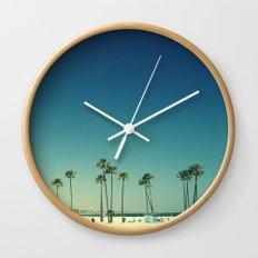 Summer Beach Blue Wall Clock