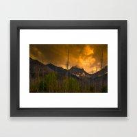 Kootenay Wildfires Framed Art Print