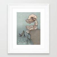 Evolution of a Mermaid Framed Art Print