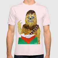 BEER PONG WOOKIE Mens Fitted Tee Light Pink SMALL