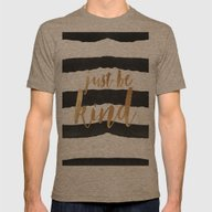 Just Be Kind Mens Fitted Tee Tri-Coffee SMALL
