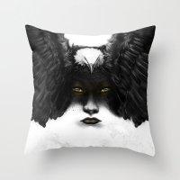 Golden Eyes Throw Pillow
