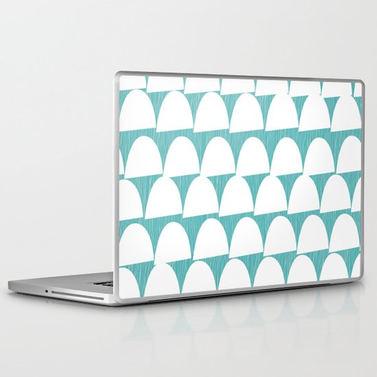 Shroom reverse aqua Laptop & iPad Skin
