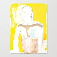 Figure On Gold Canvas Print