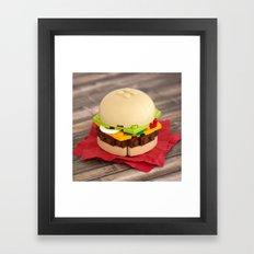 Gourmet Burger Framed Art Print