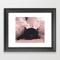 French Bunny Framed Art Print
