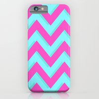 3D CHEVRON TEAL & PINK iPhone 6 Slim Case