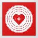 Hit Me in the Heart Canvas Print