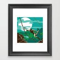 Ape Man Framed Art Print
