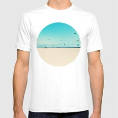 KITE SURFING White Mens Fitted Tee SMALL